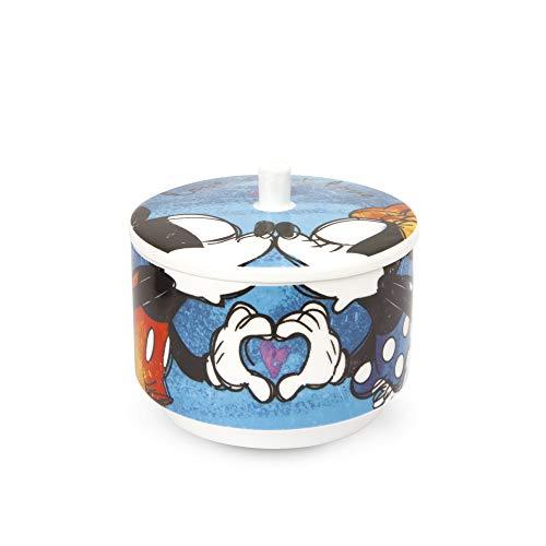 Egan PWM41/B Zuccheriera, Modello Sweet Love, Porcellana, Blu