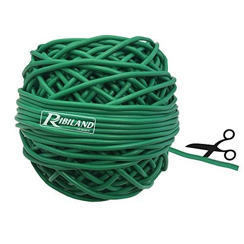 Ribiland Ribimex PRLIENGO020 Fil pour ligatures en PVC 3 mm en pelote de 200 g, Vert