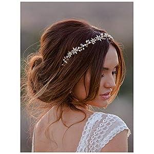 SWEETV Plata Flor de la boda Accesorios nupciales para el cabello Bandas de cristal Diadema Diadema Tiara | DeHippies.com