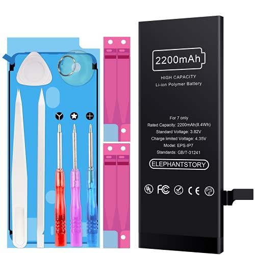 Akku für iPhone 7 2200mAh, Ersatzakku mit hoher Kapazität,für iPhone 7 Batterie inkl. Werkzeugset und Reparaturset Akku-Austausch Anleitung, 2 Jahre Garantie