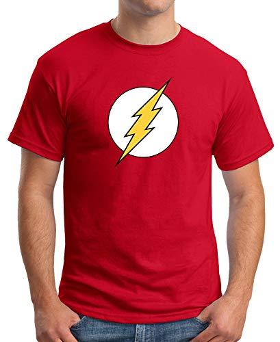 Camiseta de Hombre Flash Comic DC 002 XXL