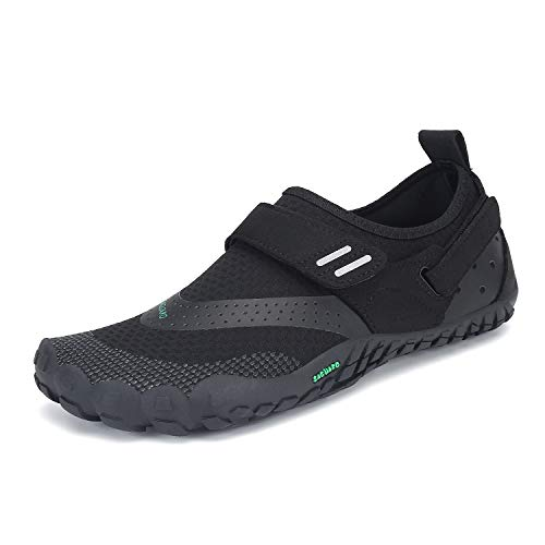 SAGUARO Mens Womens Barefoot Minimalist Trail Running Shoes Outdoor Walking Jogging Gym Fitness Zero Drop Quick Dry Breathable Water Sneakers Black