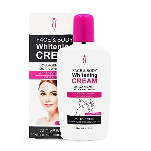Body Cream, Duvina Feuchtigkeitscreme Körpercreme Gesichtscreme Whitening Cream für dunkle Haut Bleaching aufhellende Körperlotion Whitening Cream Achselhöhle Aufheller...