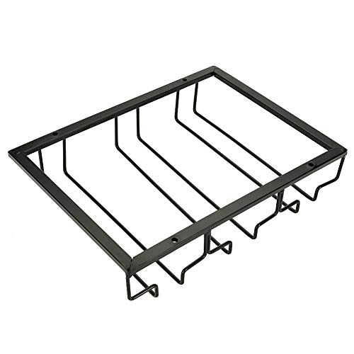 Wine Holder - Metal Iron Wine Cabinet Rack Kitchen Dining Bar Cup Holder Hanger Shelf - Also a Great Choice As a Gift For Your Friends Or Families