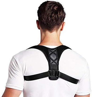 WXPE Corrector de Postura para Hombres y Mujeres,Órtesis para Parte Superior de Espalda.Corrector de Postura Ajustable de Respaldo Mejora el Alivio de la Postura Dolor de Espalda