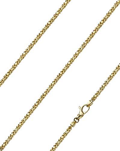 Königskette massiv 14 Karat 585 Gelbgold 55cm lang und 2,5mm breit