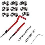 SUNSHINETEK 30pcs Thread Repair Kit M6 x1.0mm Helicoil Restoring Thread Repair Tools Wire Insert Kit Compatible Hand Tool Set for Auto Repairing