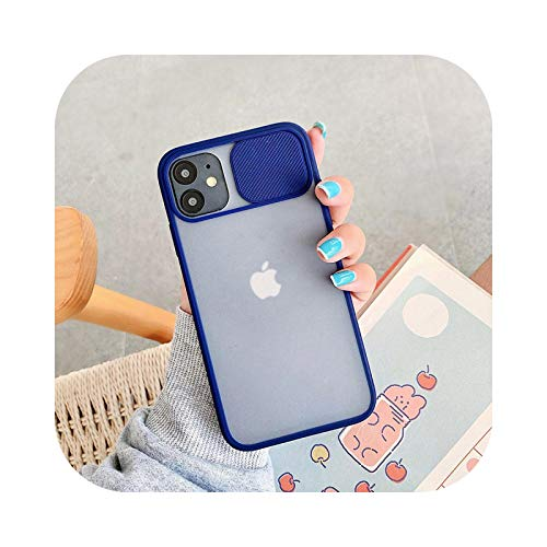 Funda para iPhone 12 Mini 11 12 Pro Max 8 7 6s Plus X XR XS Max SE 2 Color Candy Soft Back Cover azul marino para iPhone 12Pro Max