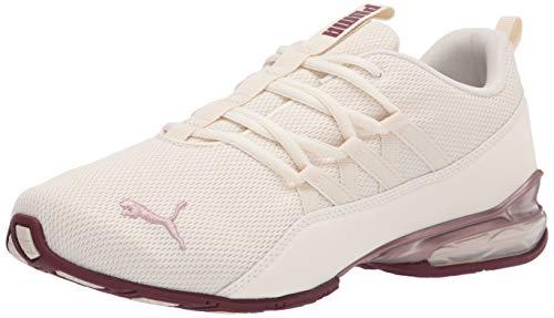 PUMA womens 19495301 Running Shoe, Whisper White-rose Gold-burgundy, 8.5 US