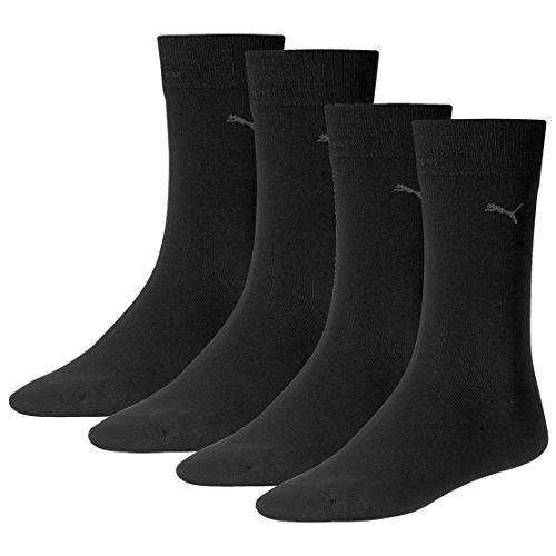 PUMA Herren Casual Socken Classic 4er Pack, Größe:43-46;Farbe:Schwarz