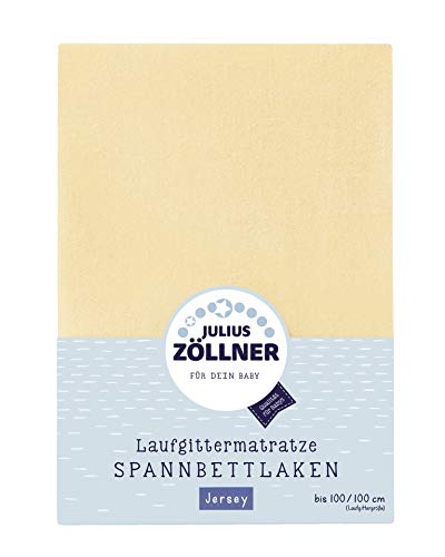 Julius Zöllner 8390347200 Drap-housse en jersey pour matelas de parc 68 x 90 à 95 x 95 cm banane Jaune
