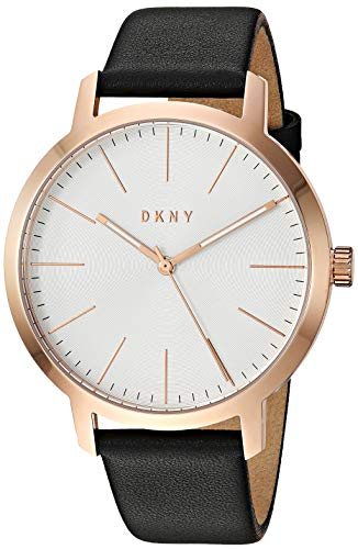 DKNY Men's The Modernist Stainless Steel Quartz Watch with Leather Strap, black, 19.2 (Model: NY1600)