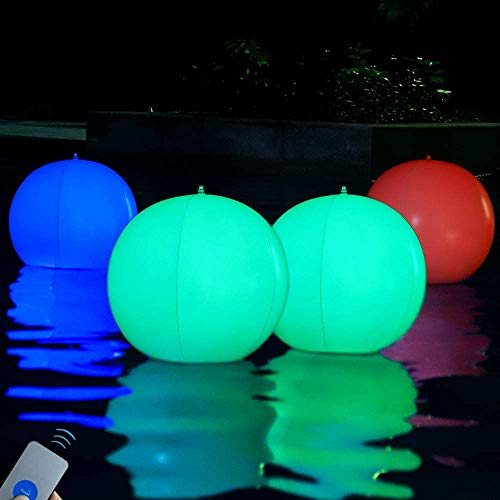 LED Kugelleuchte solar Nachtlicht Mit Fernbedienung,16 Farbe Dimmbare & 4 RGB Farbwechsel Modi LED Solar Ball Licht für Schlafzimmer, Garten, Strand Wasserdichte IP65 Kugellampe Gartenleuchten Außen