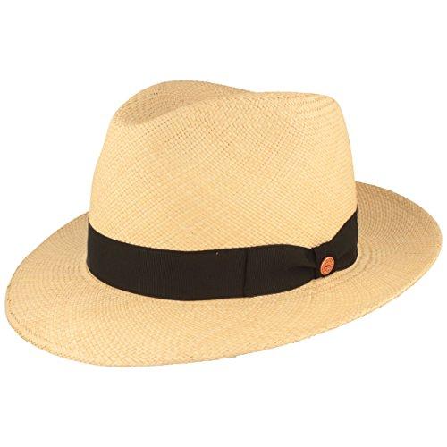 Mayser Orginal Panama-Hut | Stroh-Hut | Sommer-Hut aus Ecuador - Traditionell Handgeflochten, UV-Schutz 80, Wasserabweisend, Bruchschutz - Bogart