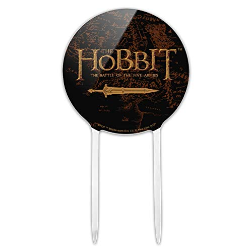 GRAPHICS & MORE Acrylic The Hobbit Battle of The Five Armies Logo Cake Topper Party Decoration for Wedding Anniversary Birthday Graduation