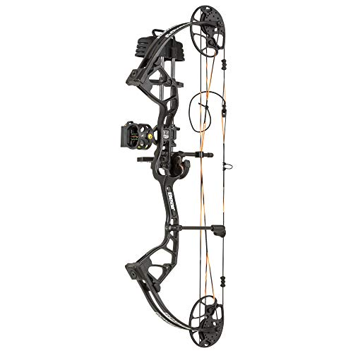 """Bear Archery Royale RTH Compound Bow Package - 5-50 LB Draw Weight- 12""""-27"""" Draw Length - Left and Right Hand Available, Shadow"""