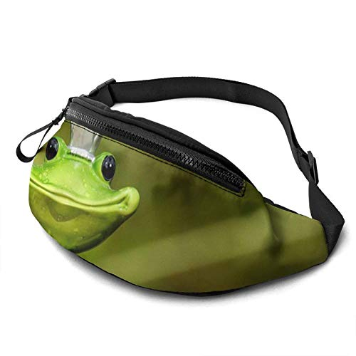KKLDOGS Bolsa de cintura de rana para hombres y mujeres, bolsa de cinturón de fitness, bolsillo ajustable, bolsa de cintura informal para entrenamiento, correr, caminar y viajar