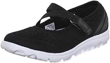 Propet Women's TravelActiv Mary Jane Fashion Sneaker, Black, 10 2E US