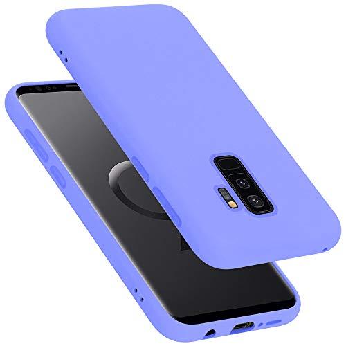 Cadorabo Custodia per Samsung Galaxy S9 Plus in Liquid Lila Chiaro - Morbida Cover Protettiva Sottile di Silicone TPU con Bordo Protezione - Ultra Slim Case Antiurto Gel Back Bumper Guscio