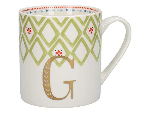 Creative Tops - Taza con diseño de letra «G», porcelana fina, multicolor,...