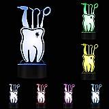 Lampada Da Illusione 3D Lampada Da Notte A Led Etichetta Per Cure Odontoiatriche Dentista Lampada Da Tavolo In Acrilico Igienista Dentale Dente Arte Medica Con Cambiamento Di Colore Luce Ottica Per