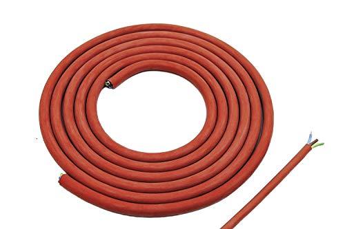 10 Meter Doubleyou Geovlies & Baustoffe® Silikonkabel 3 x 1,5 mm Zuschnitt (10m) Silikonleitung Saunakabel - Hitzebeständig und optimal für den Einsatz in der Sauna 3,59/m.