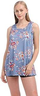 فساتين - فساتين الأمهات وملابس الحمل وملابس الحمل للنساء الحوامل فساتين الرضاعة الطبيعية (رمادية زرقاء مقاس متوسط)