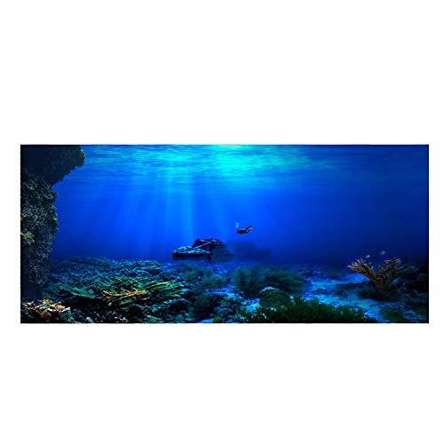 Aquarium HD Unterwasser-Hintergrund Coral Reef Foto Tapete Aquarium Fisch Meer Wand XXL Underwater Wanddekoration (122 x 46 cm)