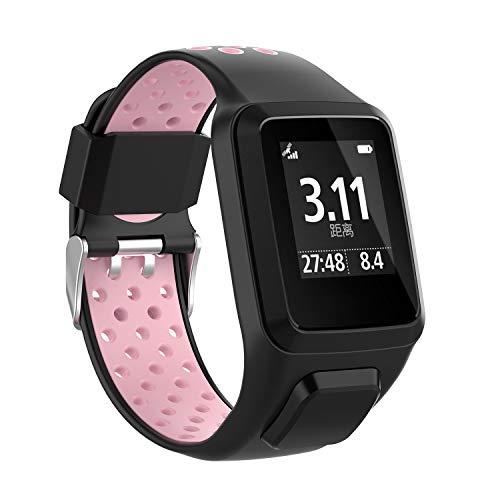 Cobar Watchband voor Tomtom Runner 2, zachte siliconen multi-gaten, ademend, sport, fitness, horlogeband, reservearmband voor Tomtom Runner 2/Runner 3/ Golfer 2 Sports GPS Running Smartwatch