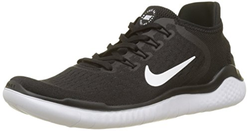 Nike Men's Free Rn 2018 Black/White Running Shoe 10 Men US