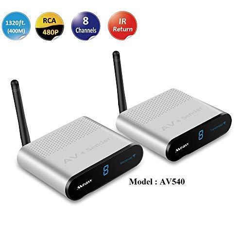 measy AV540 5.8 GHZ 8 canali 400m Wireless Audio Video Sender AV SD TV Trasmettitore e ricevitore Funzione di controllo remoto IR