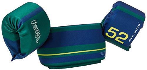 Stearns Original Puddle Jumper Kids Life Jacket | Ultra Soft Life Vest for Children, Green/Blue Stripes