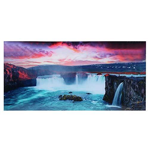 Aquarium Hintergrundbild Schlucht Wasserfall Landschaft Hintergrund Aufkleber für Aquarium Fisch Tanks Dekoration 80x40cm