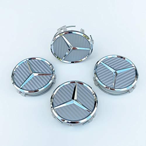 mächtig Set mit 4 Kohlefaser-Radkappen – siehe Mercedes A-Klasse Silber Ersatzteile…