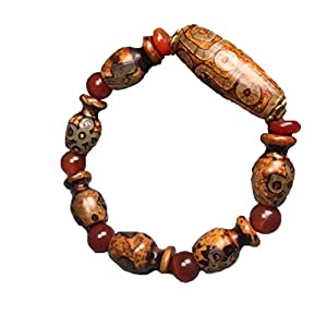 ZHIBO tibetischer Achat Dzi Perlen Armband Schmuck Handwerk