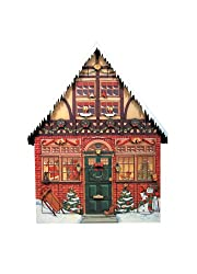 This sturdy wood Christmas House doubles as an elegant piece of holiday decor while simultaneously serving as a Christmas Countdown tool.