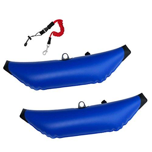 NON Sharplace 2 Piezas de Estabilizadores Inflables de Kayak con 2 Diferentes Accesorios Opcionales Depente de Su Gusto