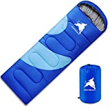 Hightingale Envelope Sleeping Bag 3 Season Single Person Warm Hood Carry Bag,Waterproof Indoor & Outdoor Use for Kids,Teens & Adults for Hiking,Backpacking and Camping