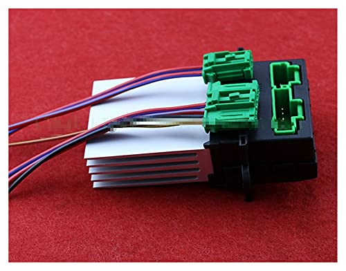 FENGFENG Sun Can Blower Motor Calentador Resistor de Ventilador + Conector/Cable de Ajuste para Nissan Tiida Livina Citroen Peugeot Renault 27150-ED70A 27150ED70A