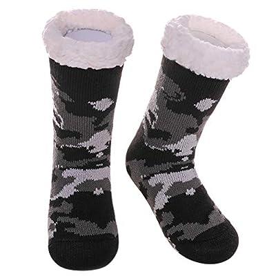 Color City Children's Boys Girls Cute Animal Fuzzy Slipper Socks Soft Warm Thick Fleece Lined Winter Kids Socks