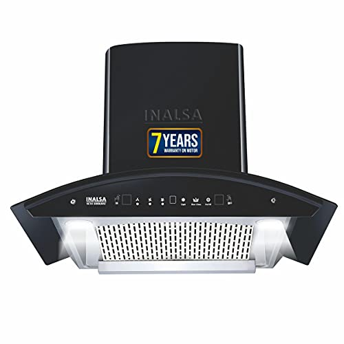 Inalsa Auto Clean, Motion Sensor Filterless Kitchen Chimney with Free Installation Kit - 60 cm, Nexa 60BKMAC