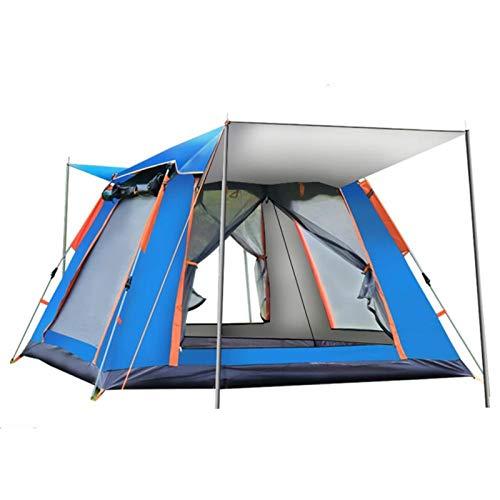4-7 Person Open Zelt Wurf Pop Up Zelte Outdoor Camping Wandern Automatische Zelte Geschwindigkeit Offene Familie Strand Großer Raum Tragbare Cabana für Angeln Picknick ( Color : Blue 4 5persons )
