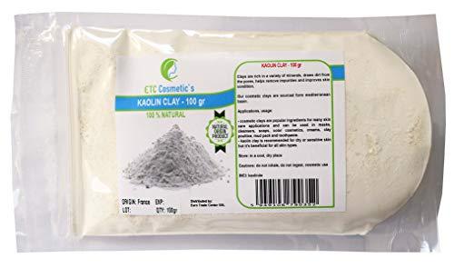 Kaolin Clay - 100gr - Kosmetiktone sind beliebte Inhaltsstoffe für viele Hautpflegeanwendungen und können in Masken, Reinigungsmitteln, Seifen, Farbkosmetika, Cremes, Tonpackungen