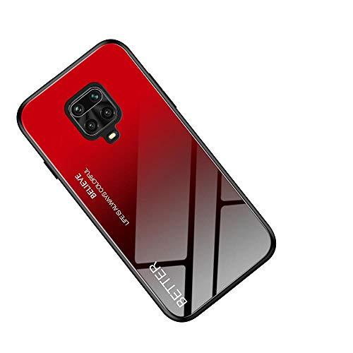 WINMI für Motorola Moto G9 Plus Hülle,Ultra Thin TPU Silikon Grenze Shock Stylisch Schutzhülle,Farbverlauf-Glas Back Cover Handyhülle für Motorola Moto G9 Plus-HH