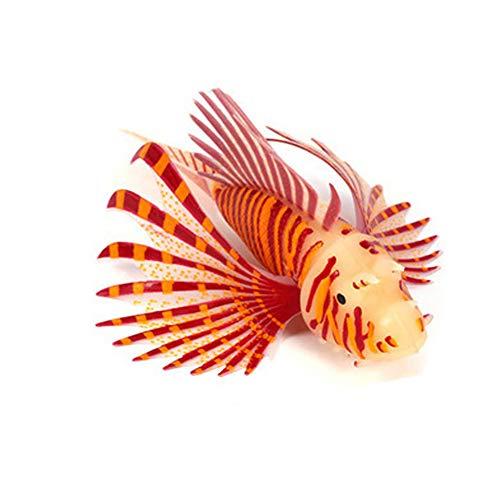 Decdeal Aquarium Glühende Künstliche Fisch Silikon Schwimmende Feuerfisch Ornament Dekoration