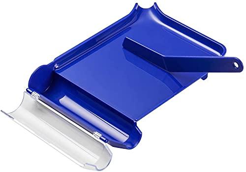 QIOQIO Modelo Realista Bandeja de dispensación, Bandeja de conteo de píldoras de la Mano Derecha con espátula (Tipo Azul-l)