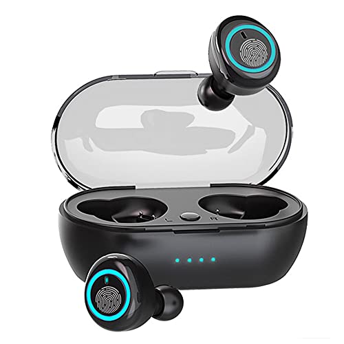 Auriculares Bluetooth,AuricularesInalámbricos Bluetooth 5.0 en la Oreja con Caja De Carga,MicrófonoIncorporado,Control Táctil,IPX7 Impermeables, para Android/iPhone/Xiaomi