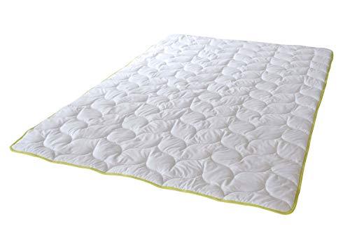 PremiumShop321 Greenfirst Steppdecke Bettdecke mit Schutz vor Mücken/Milben von KBT Ganzjahresdecke 135x200