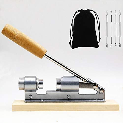 Artcome Pekannuss Nussknacker Werkzeug mit 1 Flanellbeutel und 4 Gabeln, Holzgriffbasis