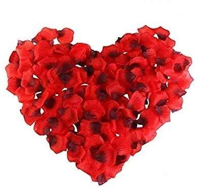 3000 Piezas Pétalos de Rosa anlising para decoración Confeti Artificiales Pétalos de Rosa Pétalos de Rosa Artificial Rosso, Confeti de Rosas Fiesta Compromiso, Evento romántico día de San Valentín
